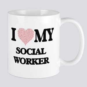 I love my Social Worker (Heart Made from Word Mugs