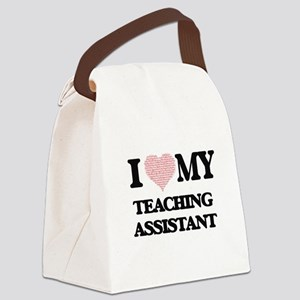 I love my Teaching Assistant (Hea Canvas Lunch Bag