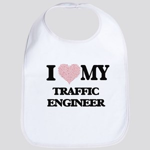 I love my Traffic Engineer (Heart Made from Wo Bib