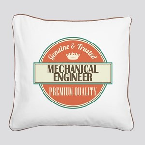 mechanical engineer vintage l Square Canvas Pillow