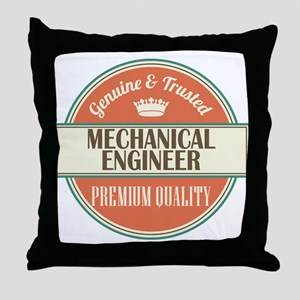 mechanical engineer vintage logo Throw Pillow