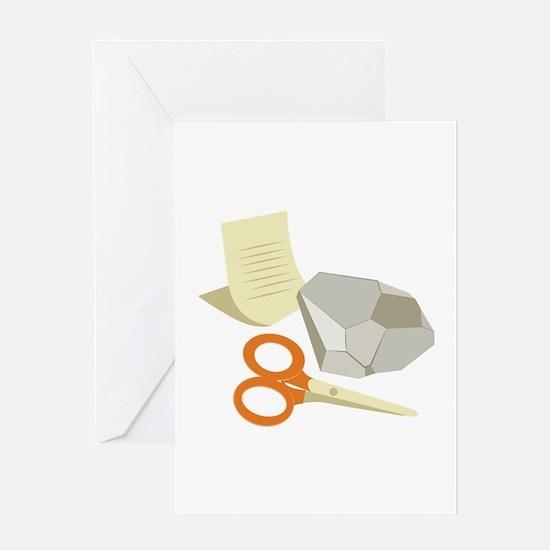 Rock Paper Scissors Greeting Cards