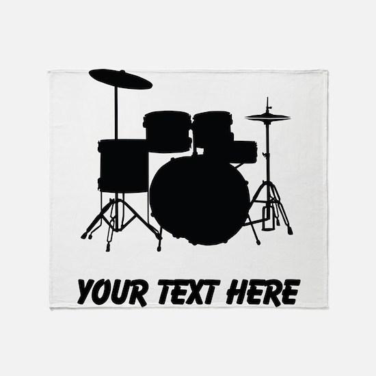 Drum Set (Custom) Throw Blanket
