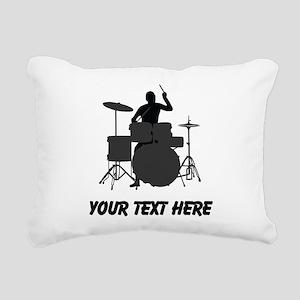Drummer (Custom) Rectangular Canvas Pillow