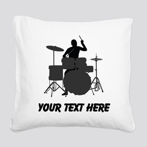 Drummer (Custom) Square Canvas Pillow