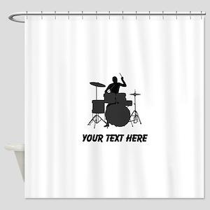 Drummer (Custom) Shower Curtain