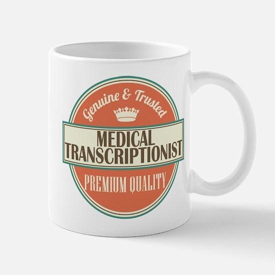 medical transcriptionist vintage logo Mug