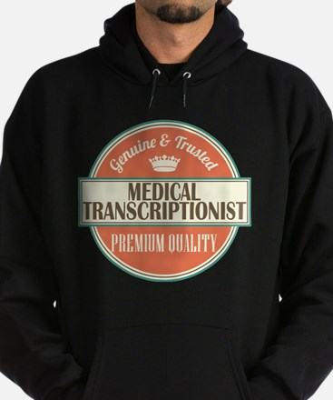 medical transcriptionist vintage log Hoodie (dark)