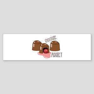 Chocolate Addict Bumper Sticker