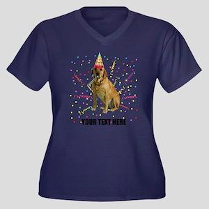 Custom Yello Women's Plus Size V-Neck Dark T-Shirt
