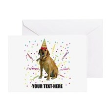 Custom Yellow Lab Greeting Card
