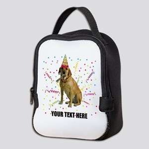 Custom Yellow Lab Neoprene Lunch Bag