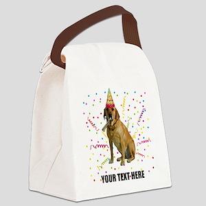 Custom Yellow Lab Canvas Lunch Bag