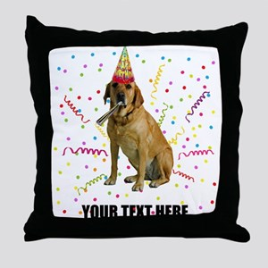 Custom Yellow Lab Throw Pillow