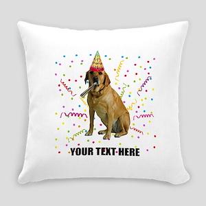 Custom Yellow Lab Everyday Pillow