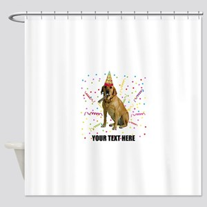 Custom Yellow Lab Shower Curtain