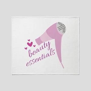 Beauty Essentials Throw Blanket