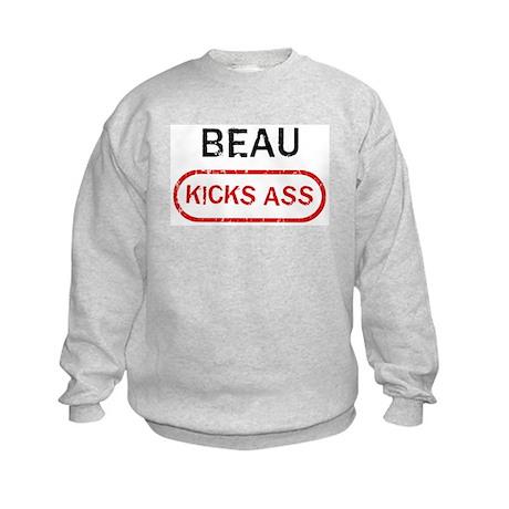 BEAU kicks ass Kids Sweatshirt