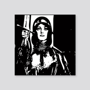 Joan of Arc (Act, and God wil Rectangle Sticker