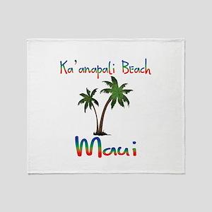 Ka'anapali Beach Maui Throw Blanket