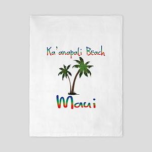 Ka'anapali Beach Maui Twin Duvet