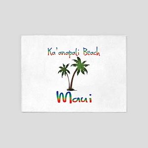 Ka'anapali Beach Maui 5'x7'Area Rug