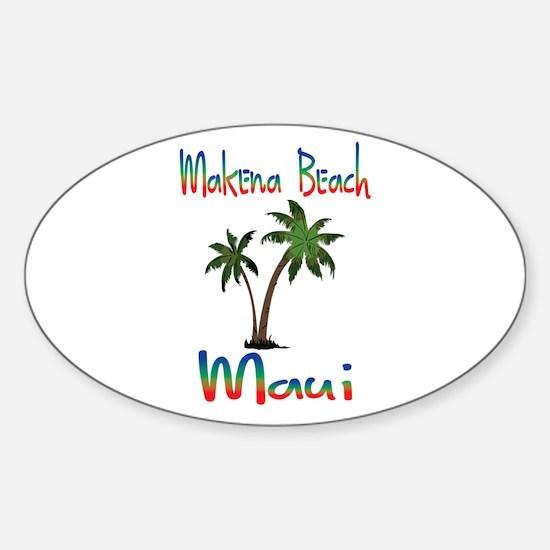 Makena Beach Maui Decal