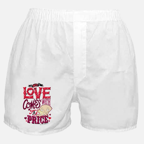 Family Guy Love Comes with a Price Boxer Shorts