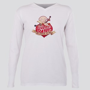 Family Guy Your Heart Be Plus Size Long Sleeve Tee