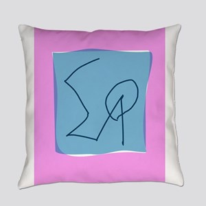 Pink Gray Marker Everyday Pillow