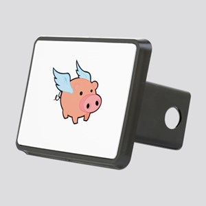 Pigs fly Rectangular Hitch Cover
