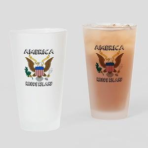 Rhode Island State Designs Drinking Glass