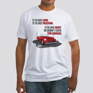 Lock The Garage Fitted T-Shirt
