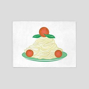 Spaghetti & Meatballs 5'x7'Area Rug