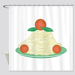 Spaghetti & Meatballs Shower Curtain