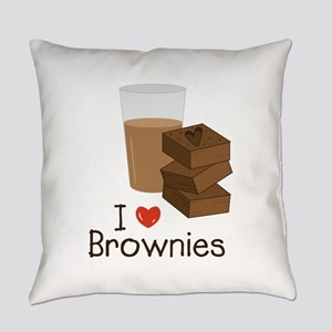 I Love Brownies Everyday Pillow