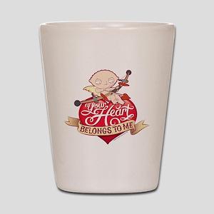 Family Guy Your Heart Belongs to Me Shot Glass
