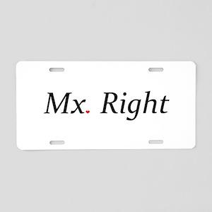 Mx. Right Aluminum License Plate