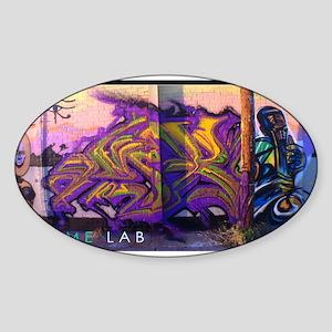 Grime Lab Graffiti Sticker