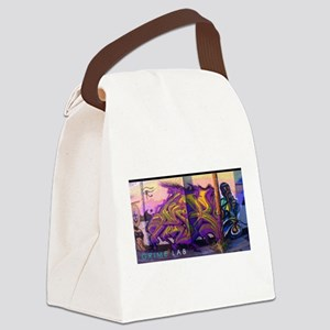 Grime Lab Graffiti Canvas Lunch Bag