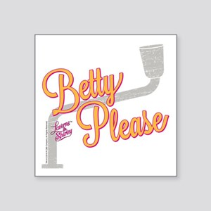 "Laverne and Shirley: Betty Square Sticker 3"" x 3"""
