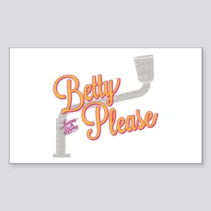 Laverne and Shirley: Betty Ple Sticker (Rectangle)