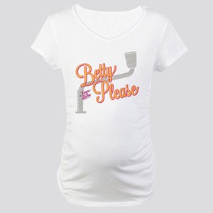 Laverne and Shirley: Betty Pleas Maternity T-Shirt
