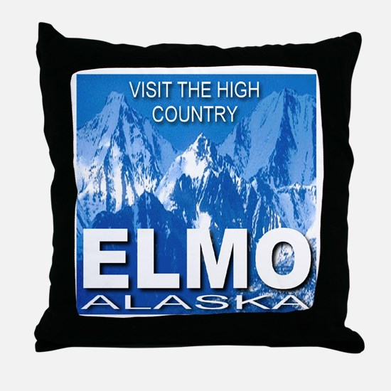 Visit The High Country Elmo, Throw Pillow