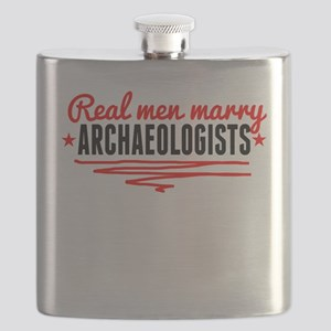 Real Men Marry Archaeologists Flask