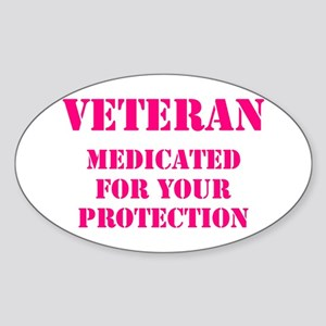 VETERAN MEDICATED FOR YOUR PROTECTION HOT Sticker