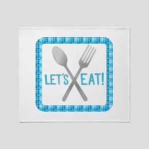 Lets Eat Throw Blanket