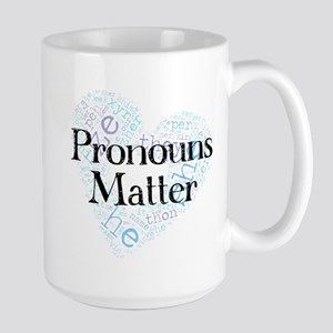 Pronouns Matter Large Mug