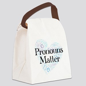 Pronouns Matter Canvas Lunch Bag