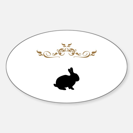 Unique Wild rabbit Sticker (Oval)